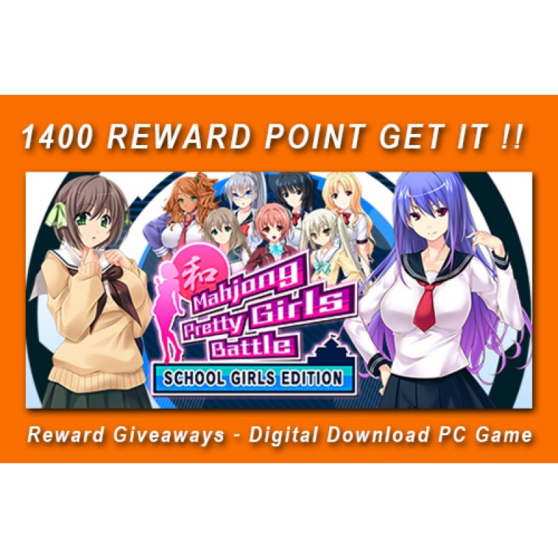 Reward Giveaways - Mahjong Pretty Girls Battle : School Girls Edition - Digital Download PC Game