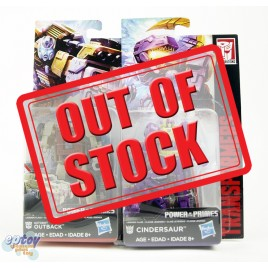 Transformers Generations Power of the Primes Legends Class Outback & Cindersaur