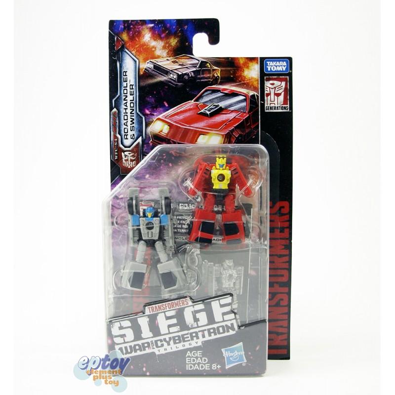 Transformers WCF SIEDE War For Cybertron Micro Masters Roadhandler & Swindler