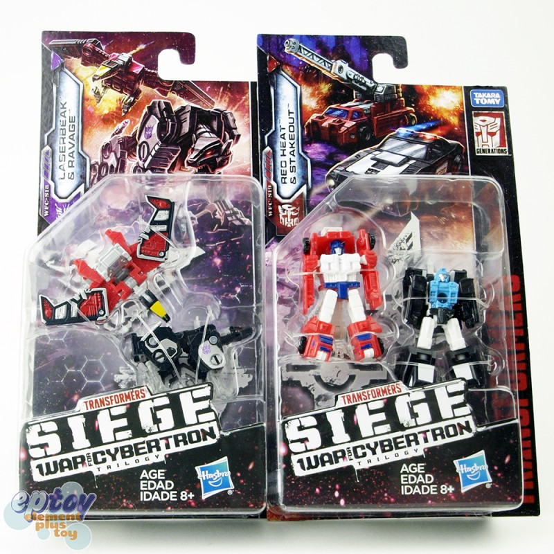Transformers WFC SIEDE War For Cybertron Micromaster Laserbeak Ravage Red Heat Stakeout Set