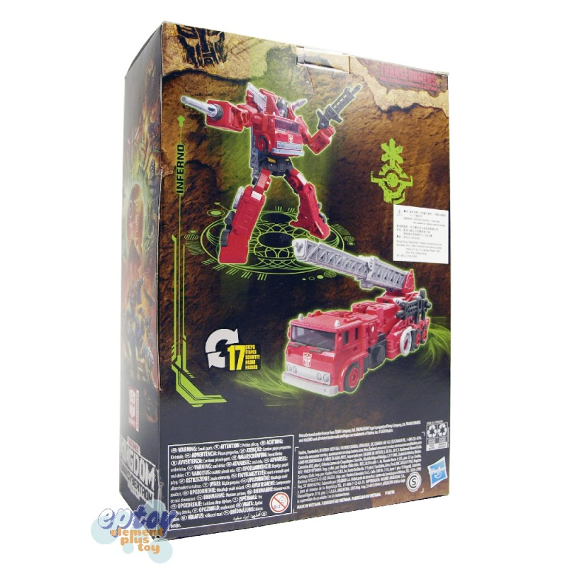 Transformers WFC Kingdom War For Cybertron Voyager Class Dinobot Inferno Set of 2