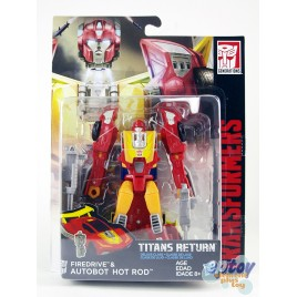 Transformers Generations Titans Return Deluxe Class Firedrive & Autobot Hot Rod