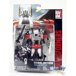 Transformers Generations Titans Return Deluxe Class Daburu & Autobot Twinferno