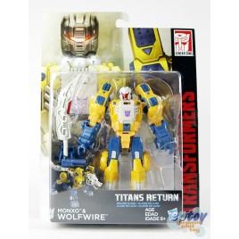 Transformers Generations Titans Return Deluxe Class Monxo & Wolfwire