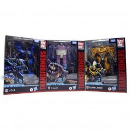 Transformers Studio Series Deluxe Class SS-74 Bumblebee SS-75 Jolt SS-86-08 Gnaw Set