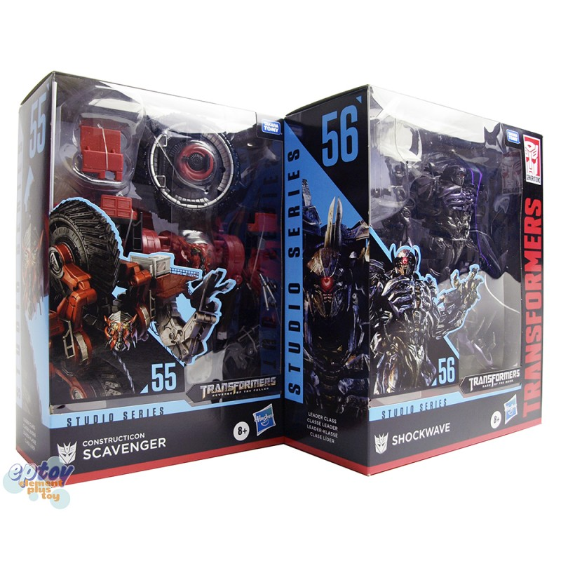 Transformers Studio Series Leader Class SS-55 Scavenger SS-56 Shockwave Set