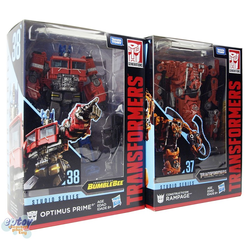 Transformers Studio Series Voyager Class SS-38 Optimus Prime & SS-37 Constructicon Rampage Set