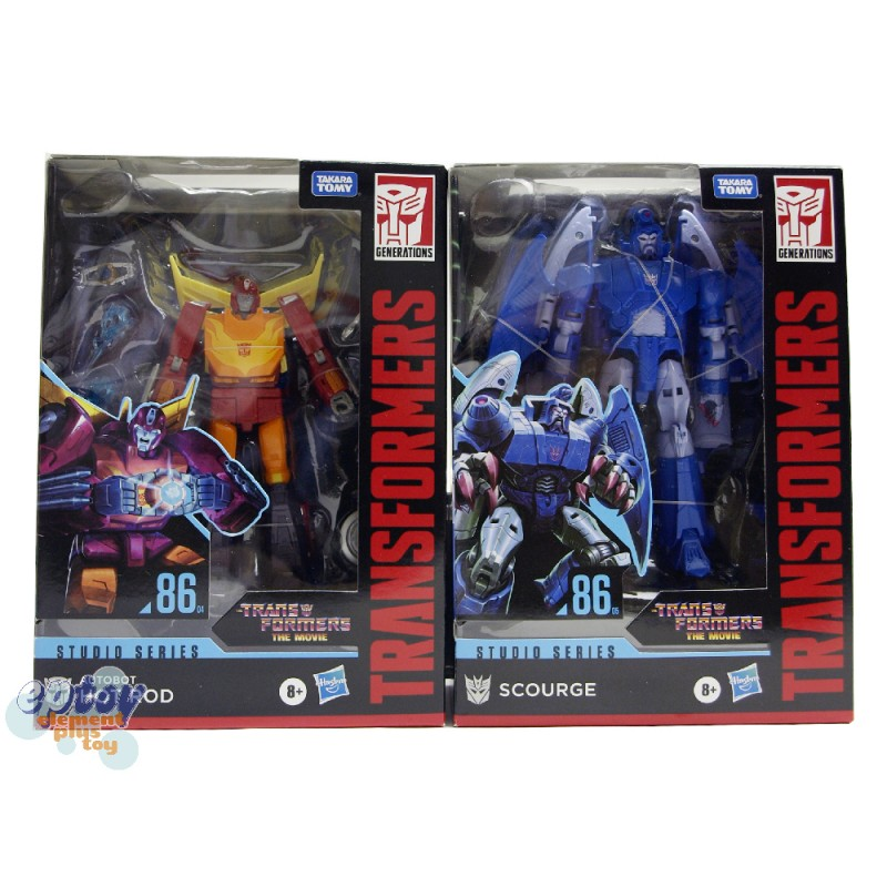 Transformers The Move Studio Series Voyager Class SS-86 Hot Rod Scourge Set of 2