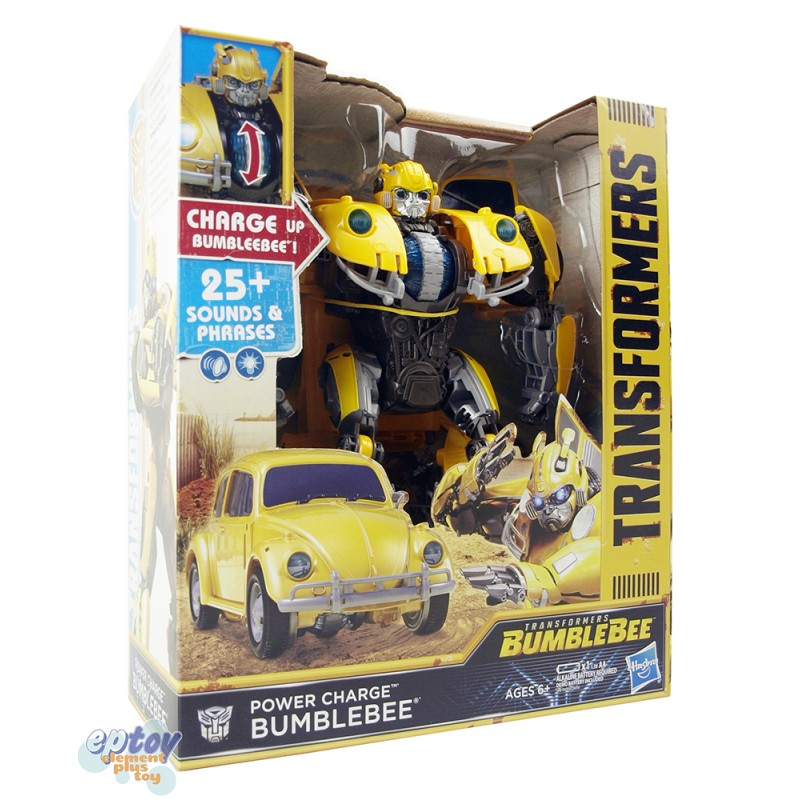 Transformers Movie Power Charge Sound & Phrases VW Beetle Bumblebee