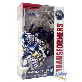 Transformers Movie 5 The Last Knight Deluxe Class Barricade Premier Edition