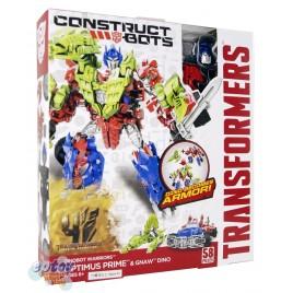 Transformers Movie 4 Construct Bots Optimus Prime & Gnaw Dino