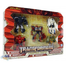 Transformers Movie 2 Straightaway Shootout Autobot VS Decepticon Set