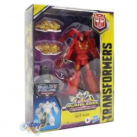 Transformers Build a Figure Maccadam Bumblebee Cyberverse Adventures Deluxe Class Hot Rod