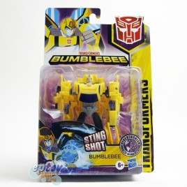 Transformers Bumblebee Cyberverse Adventures Warrior Class Cybertronian Mode Sting Shot Bumblebee