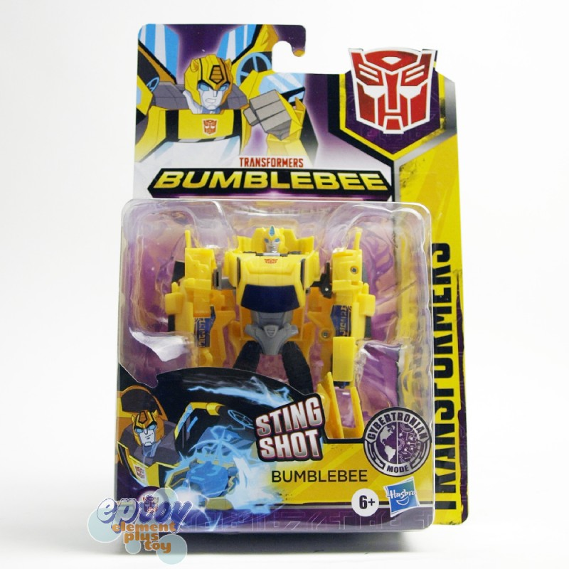 Transformers Bumblebee Cyberverse Adventures Warrior Class Cybertronian Mode Sting Shot Bumblebee