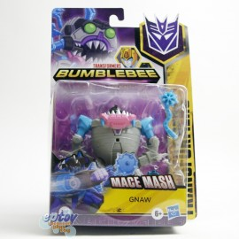 Transformers Bumblebee Cyberverse Adventures Warrior Class Cybertronian Mode Mace Mash Gnaw