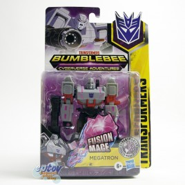 Transformers Bumblebee Cyberverse Adventures Warrior Class Cybertronian Mode Fusion Mace Megatron