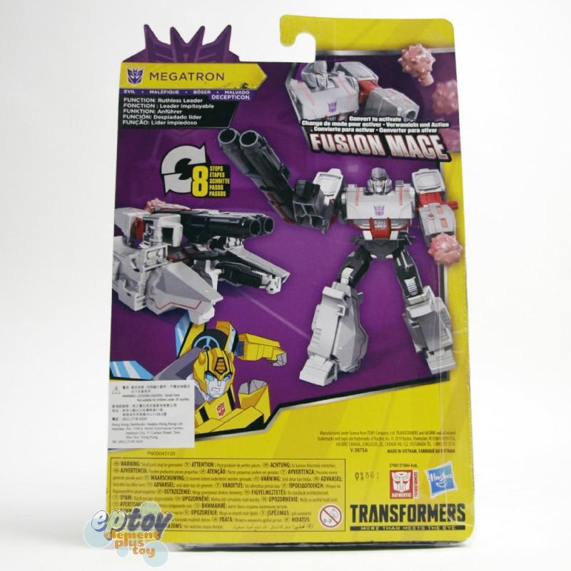 Transformers Bumblebee Cyberverse Adventures Warrior Class Cybertronian Mode Fusion Mace Megatron