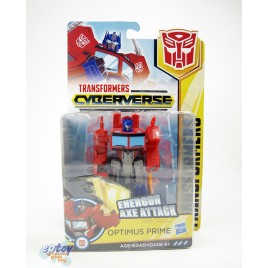 Transformers Cyberverse Warrior Class Energon Axe Attack Optimus Prime