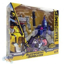 Transformers Cyberverse Buzzworthy Bumblebee Spark Armor Megatron & Chopper Cut