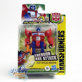 Transformers Bumblebee Cyberverse Adventures Scout Class Energon Axe Attack Optimus Prime