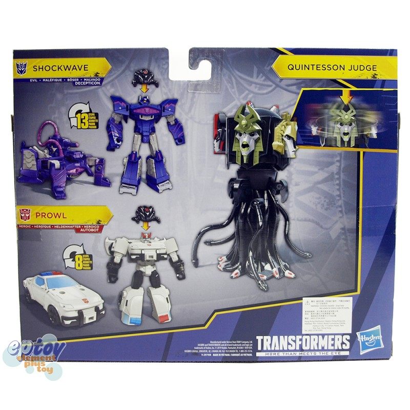 Transformers Cyberverse Cybertronian Villains Quintesson Judge Shockwave Prowl