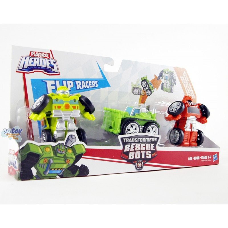 Transformers Rescue Bots Flip Racers Griffin Rock Construstion Team Multi Pack