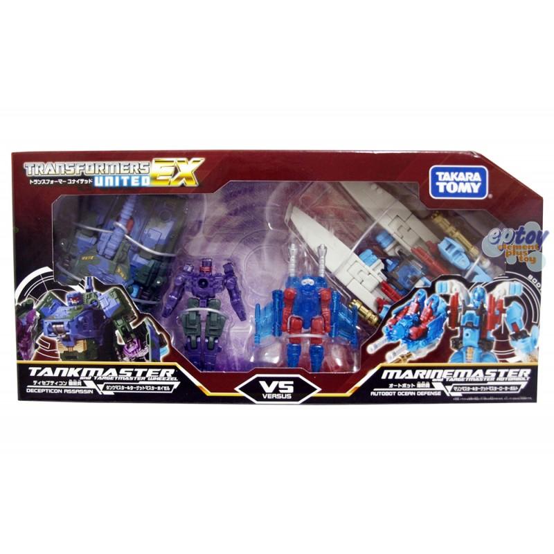 Takara Tomy Transformers United EX EXP-03 Tankmaster VS Marinemaster