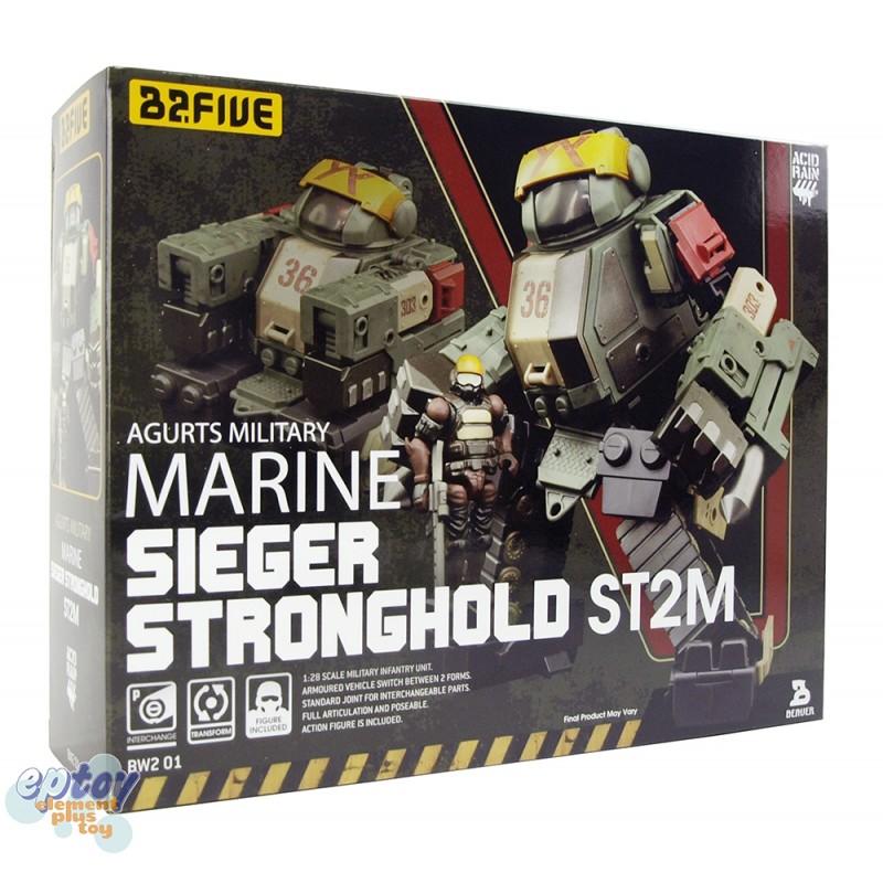 B2Five Acid Rain World Agurts Military Marine Sieger Stronghold ST2M 1/28 Figures Set