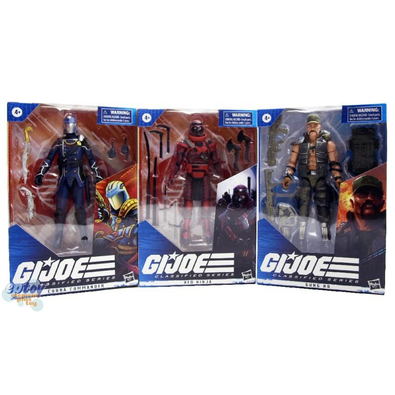 G.I.JOE GIJOE Classified Series 6-inch Cobra Commander Gung Ho Red Ninja Set