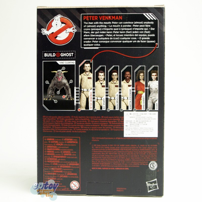 Ghostbusters Build a Ghost Vinz Clortho Plasma Series BAG 6-inch Peter Venkman