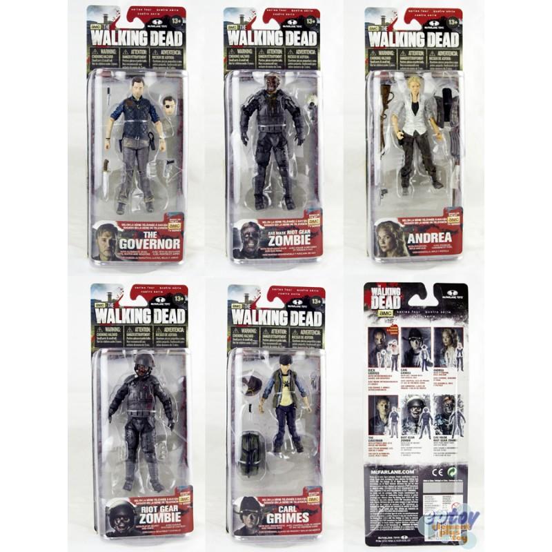 McFARLANE THE WALKING DEAD V Series 4 Action Figures Set