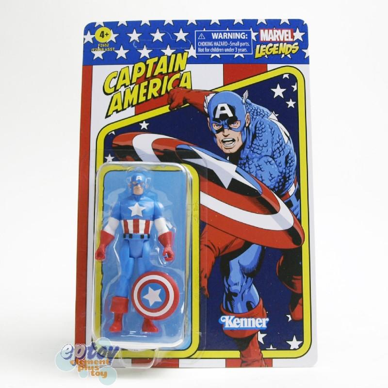 Marvel Legends Recollect Retro 3.75-inch Spider-man Hulk Magneto Captain America Human Torch Carol Danvers Set