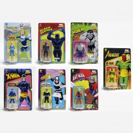 Marvel Legends Recollect Retro 3.75-inch Invisible Woman Ant-Man Black Panther Bullseye Cyclops Hulk Vision Set