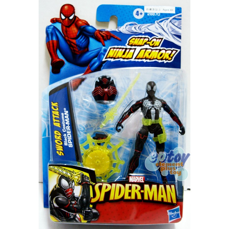 Marvel Spider-Man 3.75-inch Sword Attack Black Costume Spider-Man