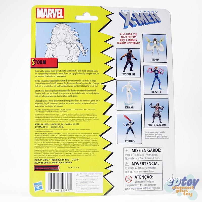 Marvel Legends Retro Uncanny X-Men 6-inch Storm Silver Samurai Wolverine Dazzler Iceman Cyclops Set
