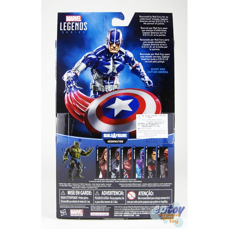 Marvel Captain America Build a Figure Abomination Series 6-inch Secret War Captain America