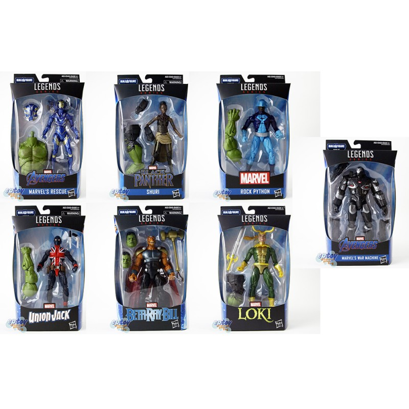 Marvel Avengers Build a Figure BAF Hulk Series 6-inch Figures Set of 7