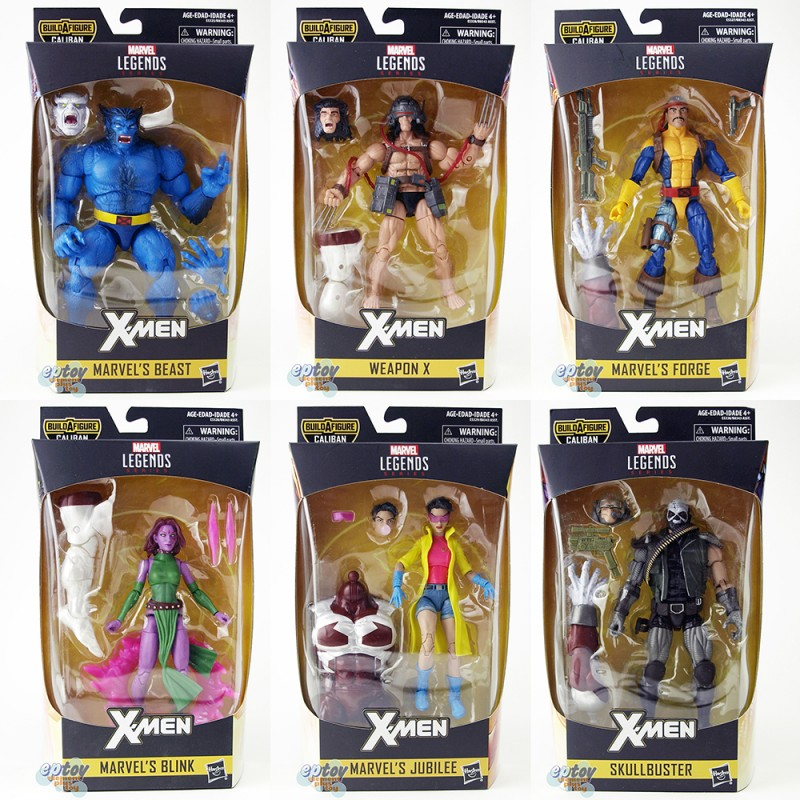 Marvel X-Man Build a Figure Caliban Series 6-inch Figures Set