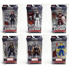 Marvel Black Widow Build a Figure BAF Crimson Dynamo Series 6-inch Figures Set of 6