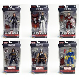 Marvel Black Widow Build a Figure BAF Crimson Dynamo Series 6-inch Figures Set of 6