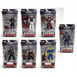 Marvel Black Widow Build a Figure BAF Crimson Dynamo Series 6-inch Figures Set of 7