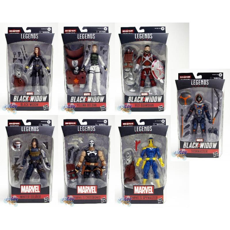 Marvel Black Widow Build a Figure BAF Crimson Dynamo Series 6-inch Figures Set of 7
