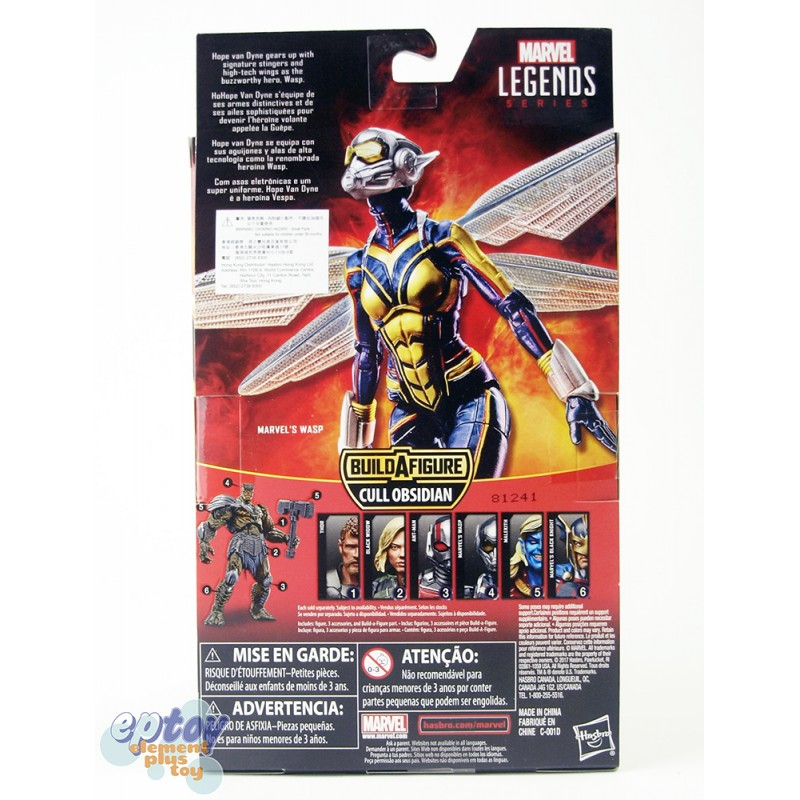 Marvel Avengers Ant-Man Build a Figure Cull Obsidian Series 6-inch Marvel's Wasp