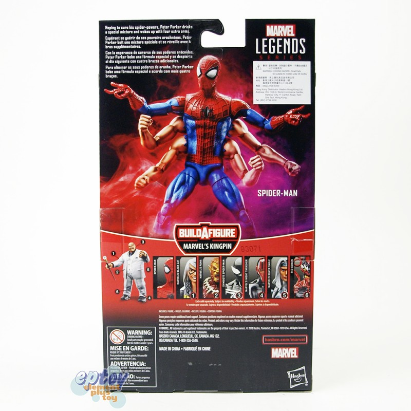 Marvel Build a Figure Marvel's Kingpin Series 6-inch Spider-Man