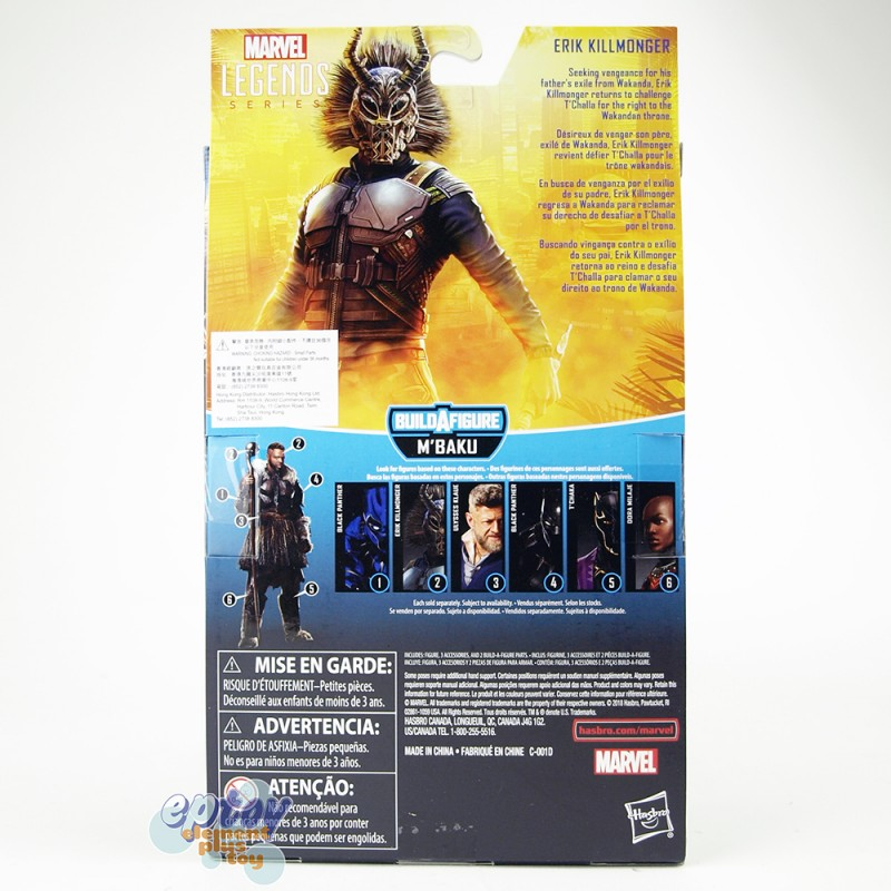 Marvel Black Panther Build a Figure M'Baku Series 6-inch Erik Killmonger
