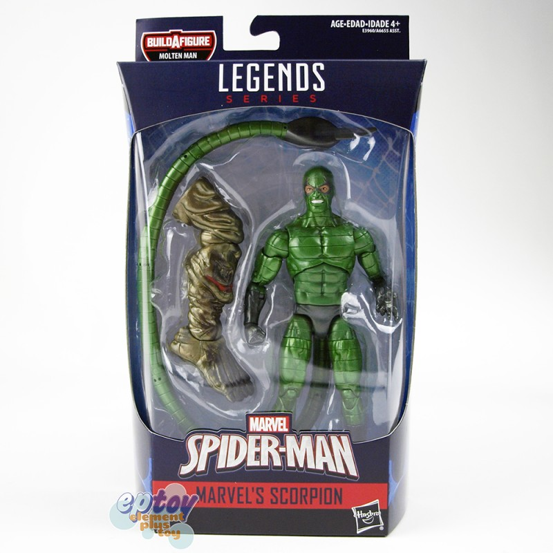 Marvel Spider-Man Build a Figure Molten Man Series 6-inch Figures A set of 7