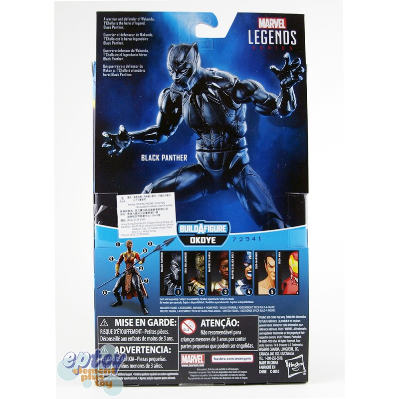 Marvel Black Panther Build a Figure Okoye Series 6-inch Black Panther