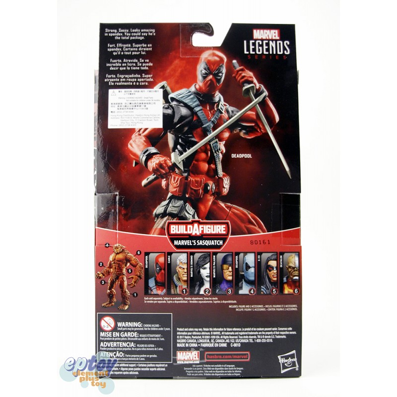 Marvel Deadpool Build a Figure Marvel's Sasquatch Series 6-inch Deadpool