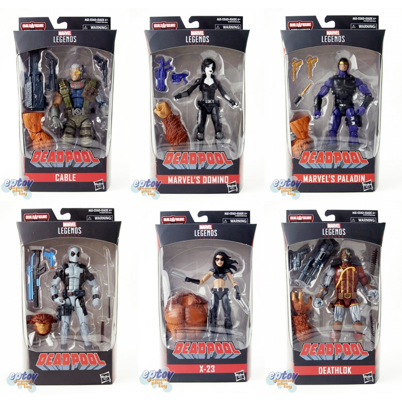 Marvel Deadpool Build a Figure Marvel's Sasquatch Series 6-inch Figures Set